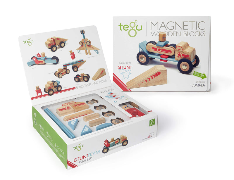 Tegu Jumper Magnetic Wooden Block (Pack of 25) - Da Da Kinder Store
