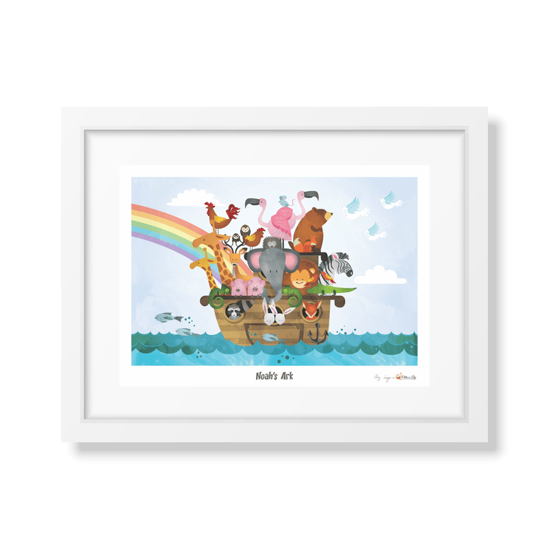 Ollie & Lily Noah's Ark Water Colour Poster - Da Da Kinder Store
