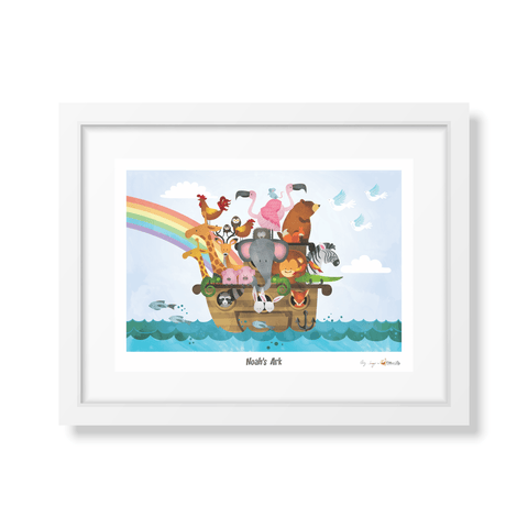 Ollie & Lily Noah's Ark Water Colour Poster