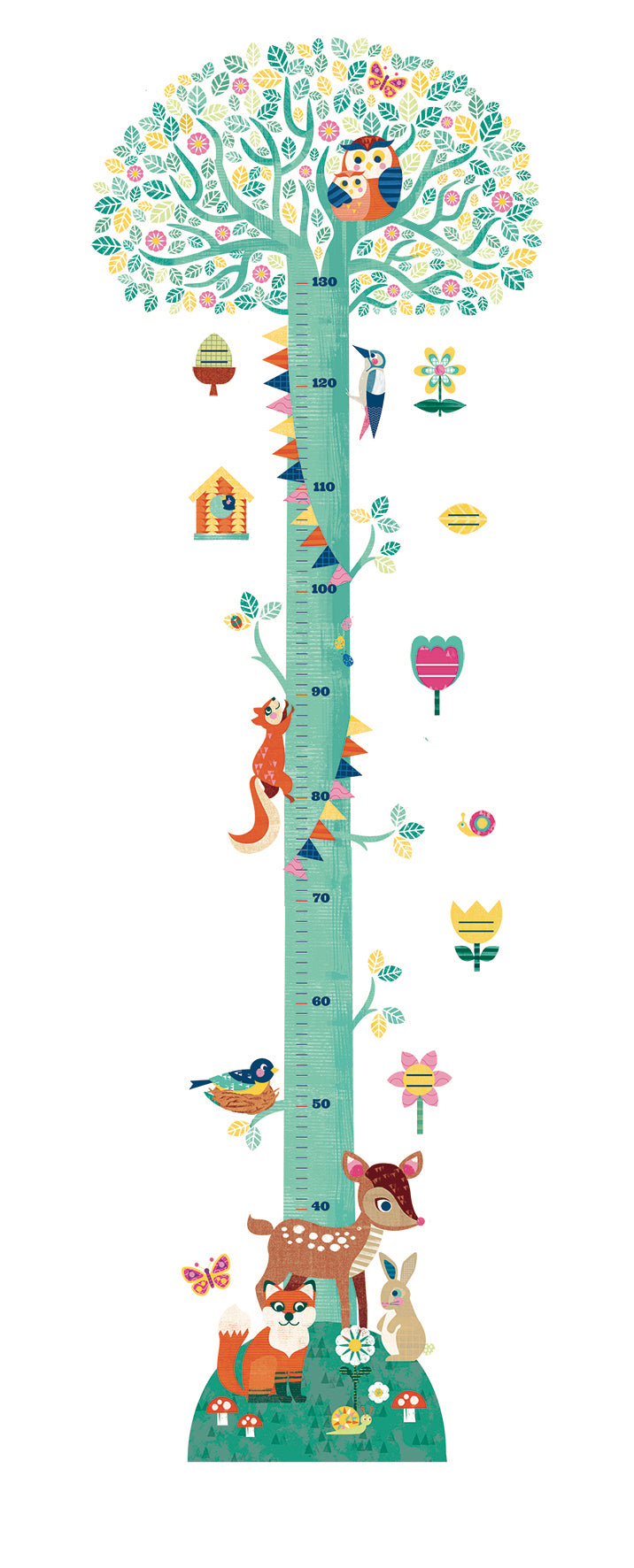 Djeco Height Chart - Blossoming Tree