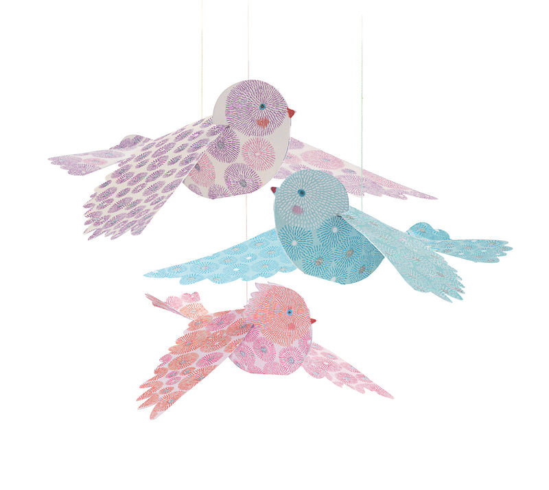 Djeco Lightweights To Hang - Glitter Birds - Da Da Kinder Store