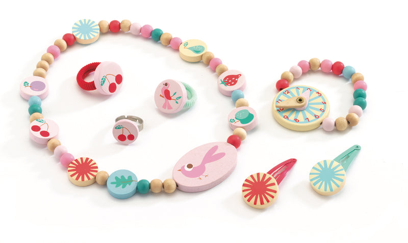Djeco Jewellery Set - Summer Garden Jewellery, Wooden