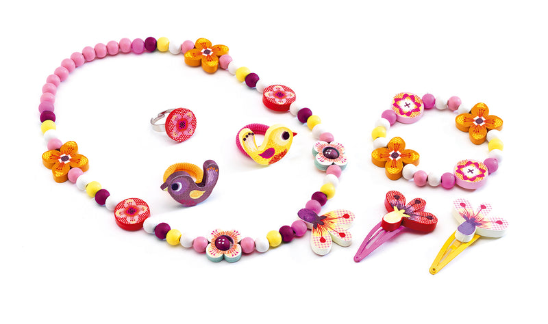 Djeco Jewellery Set - Wood Flower, Wooden - Da Da Kinder Store