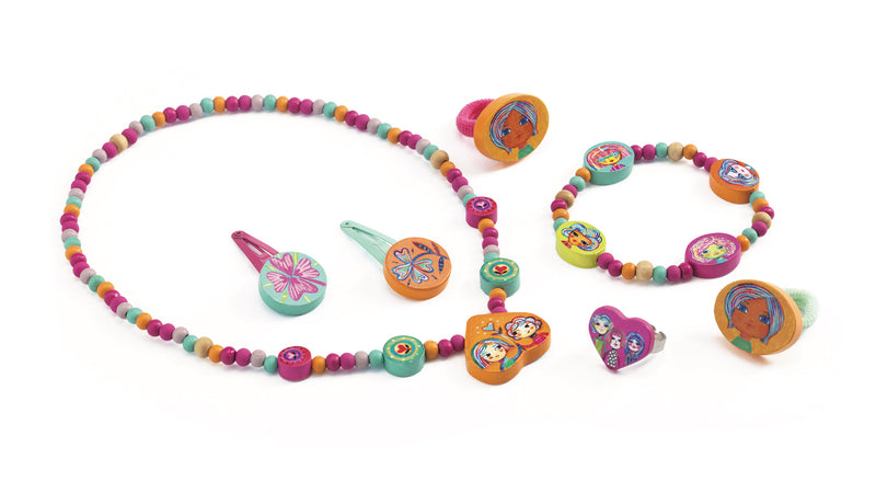 Djeco Jewellery Set - The Pretty, Wooden - Da Da Kinder Store