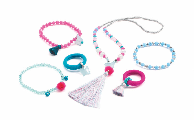 Djeco Jewellery Set - Pompoms and Butterflies