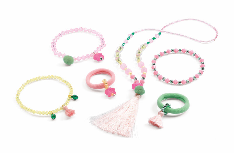 Djeco Jewellery Set - Pompons and Stars