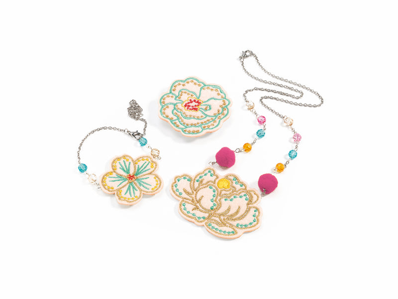 Djeco Jewellery Set - Embroidered Jewels Flowers - Da Da Kinder Store