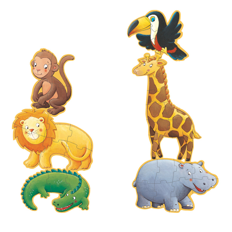 Djeco Giant Puzzle - Marmoset And His Friends 4-6-9 Pcs - Da Da Kinder Store