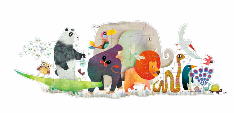 Djeco Giant Puzzle - Animal Parade 36 Pcs