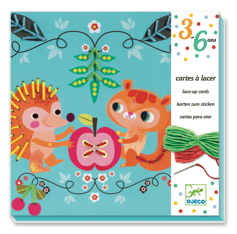 Djeco Lace-Up Cards - Friends - Da Da Kinder Store