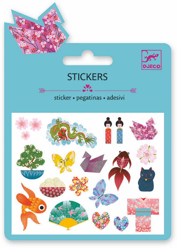 Djeco Mini Sticker - Motifs Japan - Da Da Kinder Store