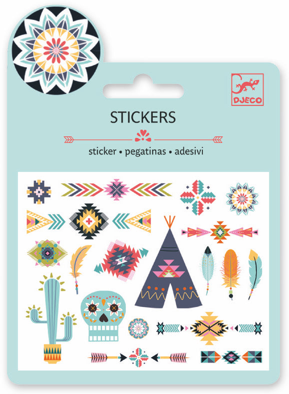 Djeco Mini Sticker - Western Style