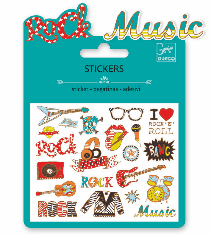 Djeco Mini Sticker - Pop Et Rock - Da Da Kinder Store