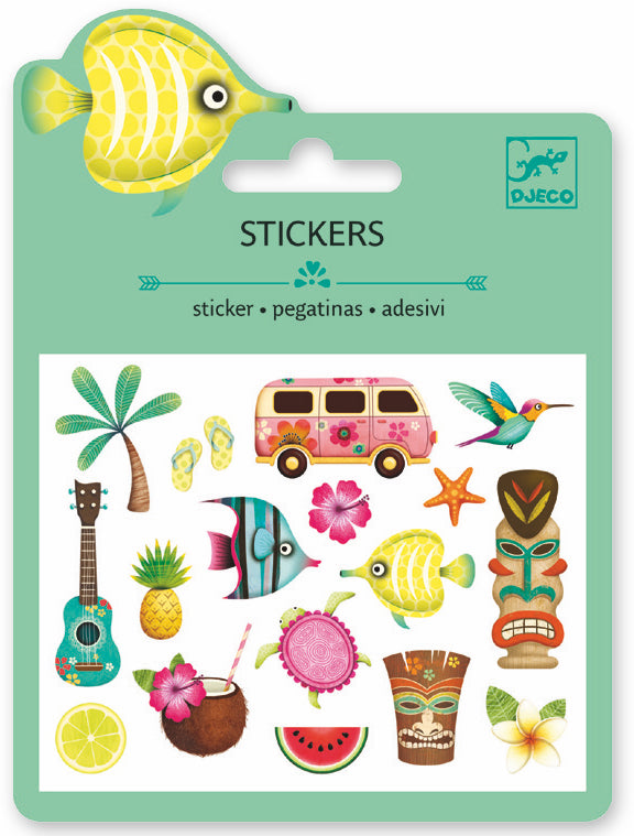 Djeco Mini Sticker - Motifs Hawaii