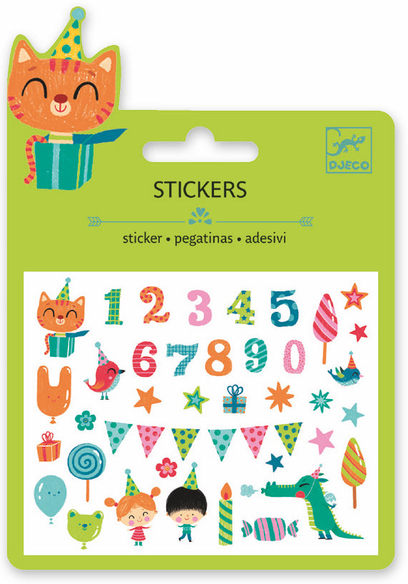 Djeco Mini Sticker - Birthday - Da Da Kinder Store