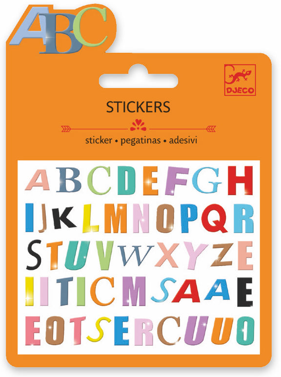 Djeco Mini Sticker - Lettres Colorees