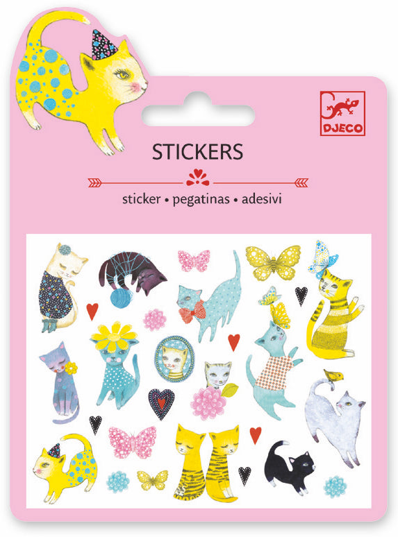 Djeco Mini Sticker - Cats - Da Da Kinder Store
