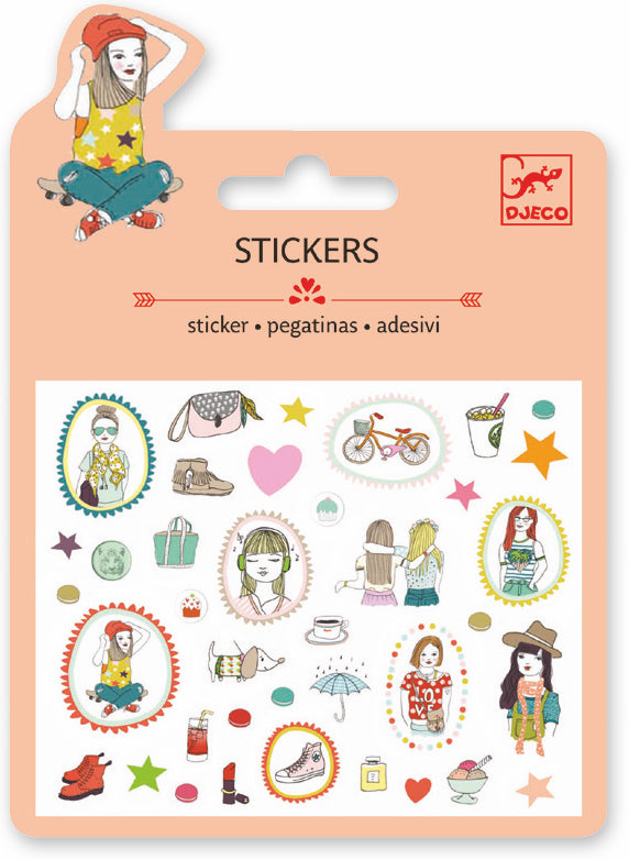 Djeco Mini Sticker - Fashion