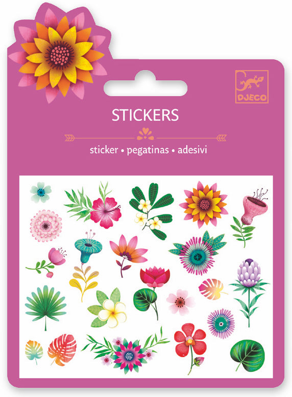 Djeco Mini Sticker - Tropical Flowers - Da Da Kinder Store