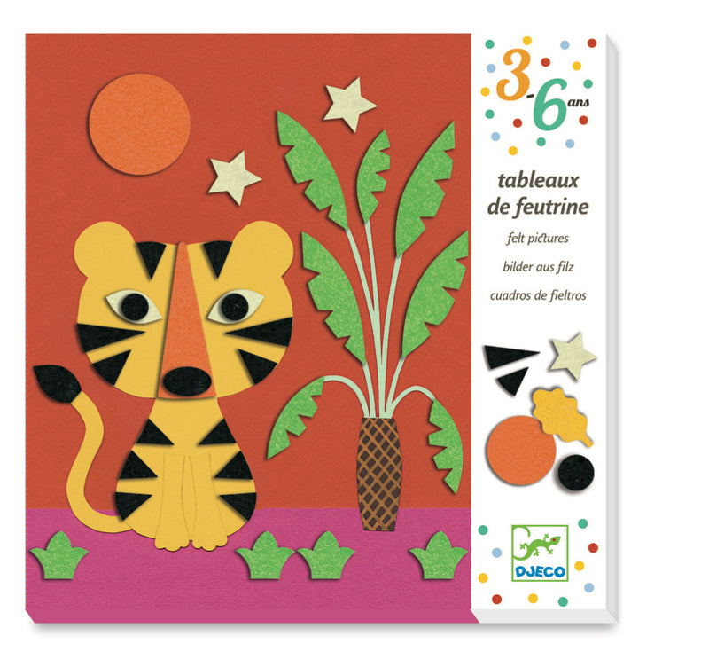 Djeco Felt Collages - Animals - Da Da Kinder Store