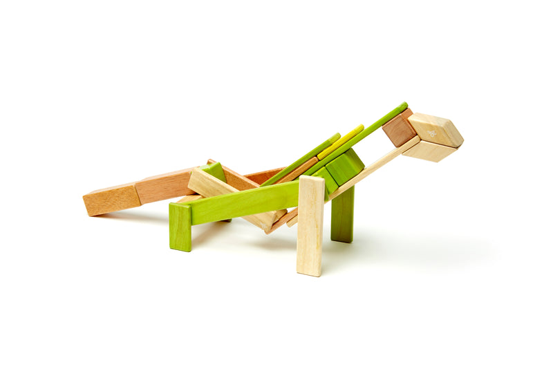Tegu 24 Piece Magnetic Wooden Block Set Jungle - Da Da Kinder Store