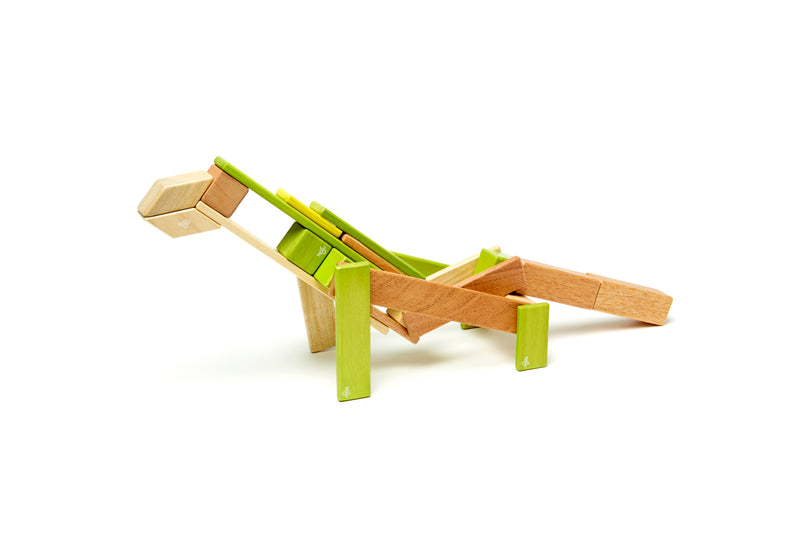 Tegu 24 Piece Magnetic Wooden Block Set Jungle