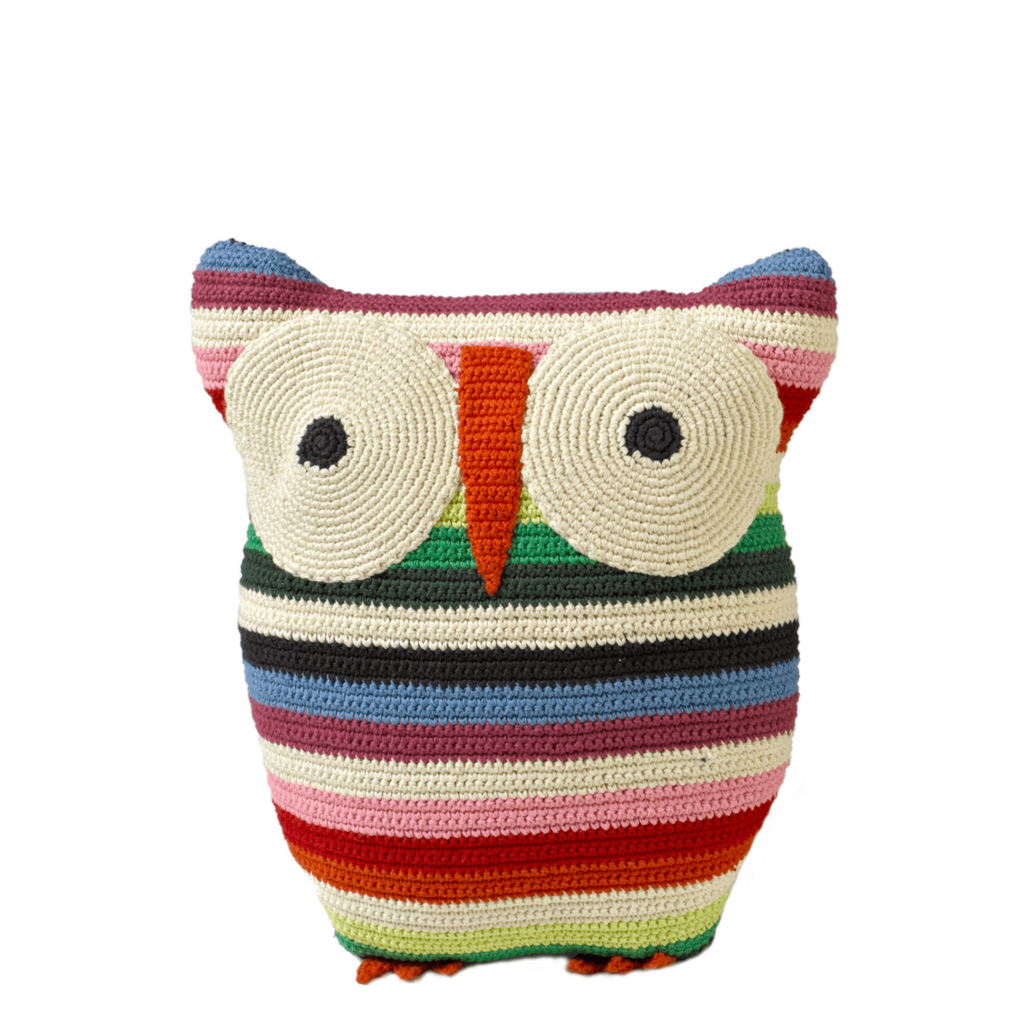 Anne Claire Petit Owl Cushion Mix Colour