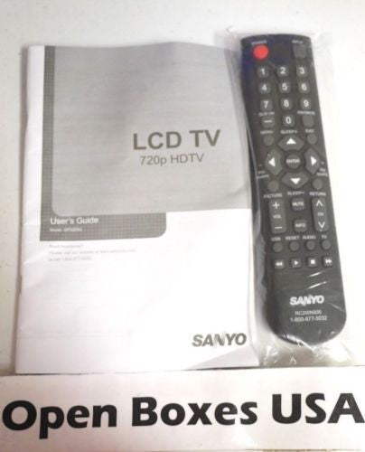 Open Boxes USA - Sanyo DP32D53 Remote Control and User's Manual