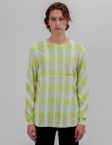 Eckhaus Latta - Lapped Long Sleeve (Yellow Grid)