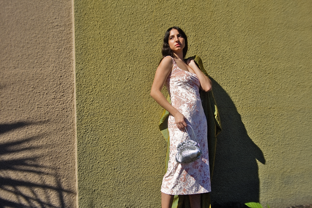 Maryam Nassir Zadeh - Salma Dress Long (Blush Velvet)