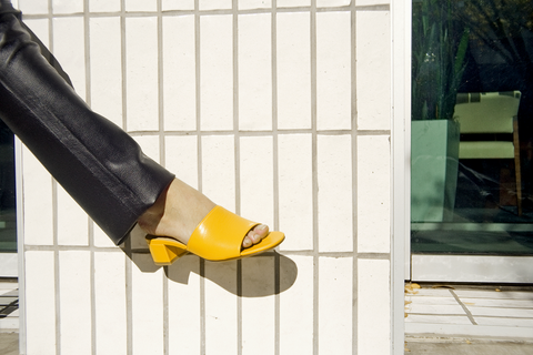 Maryam Nassir Zadeh - Sophie Slide (Canary Calf)