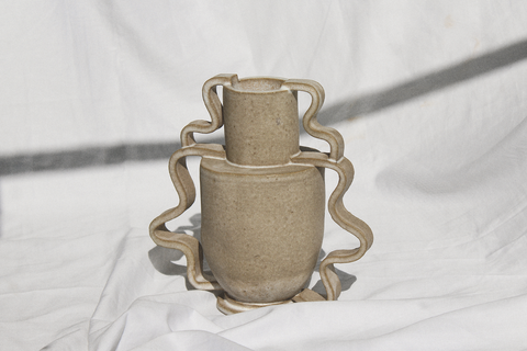 Morgan Peck - Double Stretch Vase (Flax)