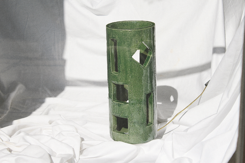 Morgan Peck - Tall Piling Lamp (Seaweed Green)