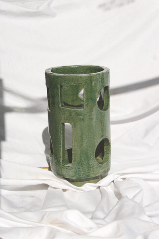 Morgan Peck - Short Piling Lamp (Seaweed Green)