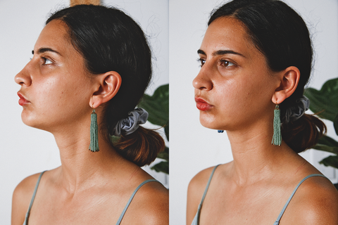 Zartiztry - Athena Tassel Earrings (Jade/Bronze)