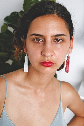 Zartiztry - Athena Tassel Earrings (Rose/Matte Bronze)