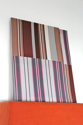 Andy Coolquitt - 'Two Striped Paintings'