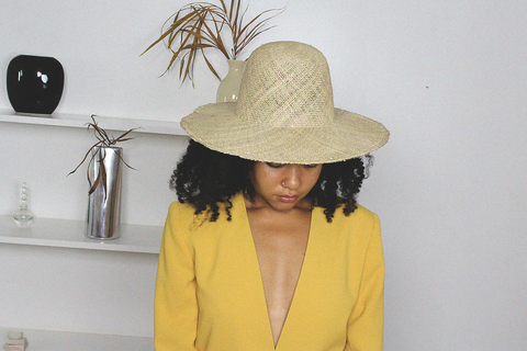 CLYDE - Dome Panama Hat (Seagrass)