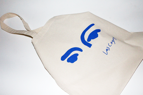 Las Cruxes - Eyes Tote (Klein Blue)