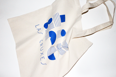 Las Cruxes - Graphic Tote (Klein Blue)