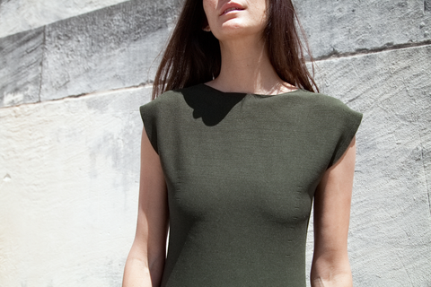 Issey Miyake Cauliflower - Whole Knit Garment Knit Dress (Olive)