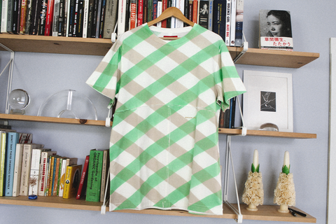 Eckhaus Latta - Lapped Tee (Green Lattice)