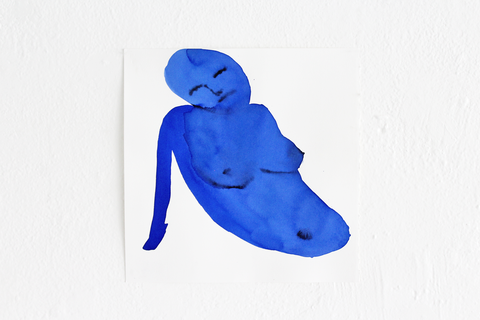 Emma Kohlmann - 'Untitled' (Blue Nude)