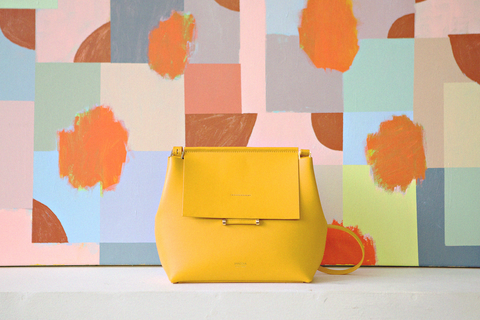 Imago-A - Carré Shoulder Bag (Sunflower)