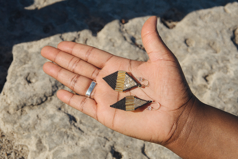 Zartiztry - Octah Earrings (Champagne/Gold/Jet Black)