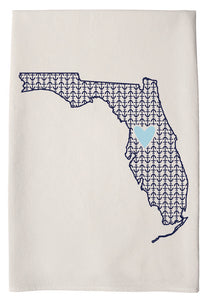 Coast and Cotton Towel - Pensacola Heart