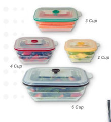 Collapse-It 6 Cup Rectangular Storage Container