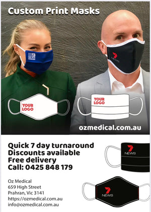 Custom Printed Face Masks with Company Logos