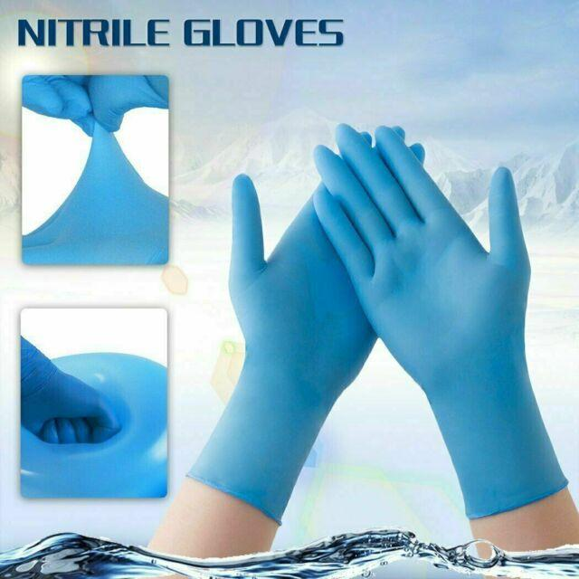 Gloves : Lalan Nitrile Examination : Powder Free : Blue colour : 100 per pack : Size Small, Medium, Large, ExLarge - In Stock