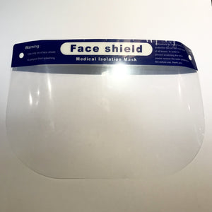 Full Face Clear Mask Visor with Adjustable Straps - In Stock
